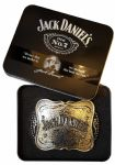 Jack Daniel's Officially Licensed Hammered Silver Effect Belt Buckle with Collectors Tin. Code AZ3